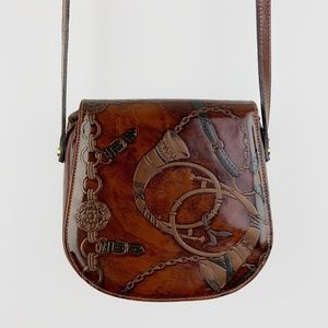 Talja Vintage Italian Leather Equestrian Purse